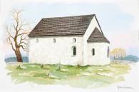 Södra Säms kyrkoruin_Rekonstruktionsbild av Björn Gidstam