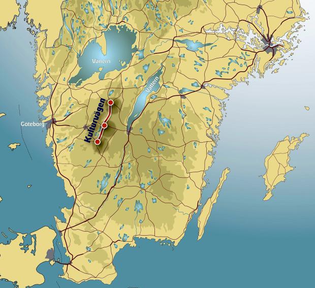 Karta sydsverige, Kulturvägen
